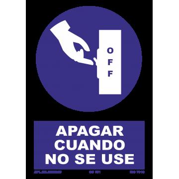 Señal: Obligacion apagar cuando no se use