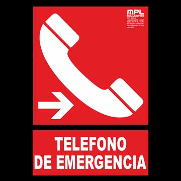 Señal: Telefono de emergencia derecha