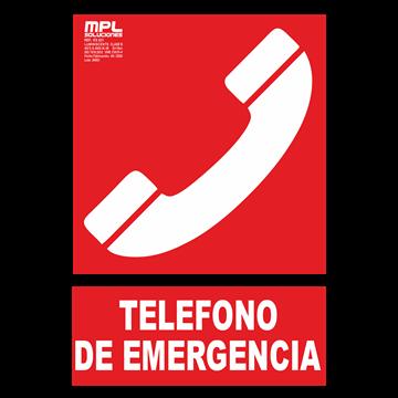 Señal: Telefono de emergencia