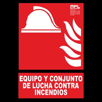 Señal: Equipo y conjunto de lucha contra incendios