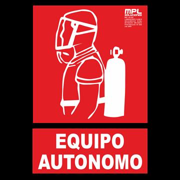 Señal: Equipo autonomo contra incendios