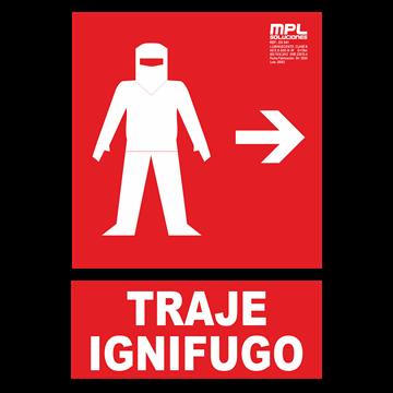 Señal: Traje ignifugo izquierda