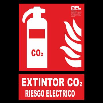 Señal: EXTINTOR CO2 RIESGO ELECTRICO