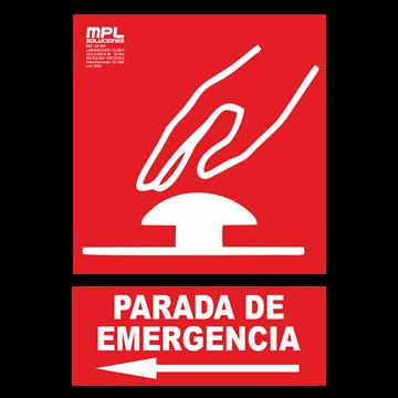 Señal: PARADA DE EMERGENCIA IZQ.