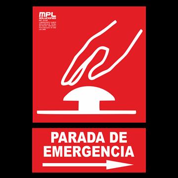 Señal: PARADA DE EMERGENCIA DER.