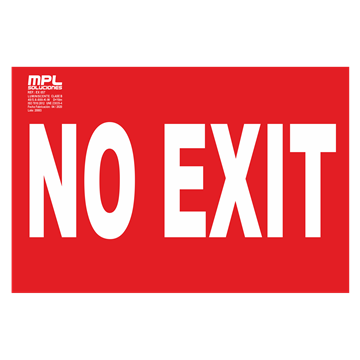 Señal: NO EXIT