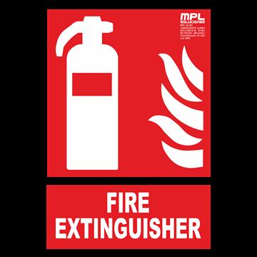 Señal: FIRE EXTINGUISHER