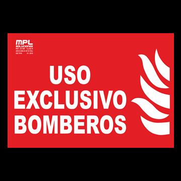 Señal: USO EXCLUSIVO BOMBEROS
