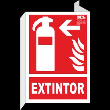 Banderola: Extintor de incendios izquierda