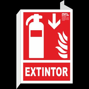 Banderola: Extintor de incendios abajo