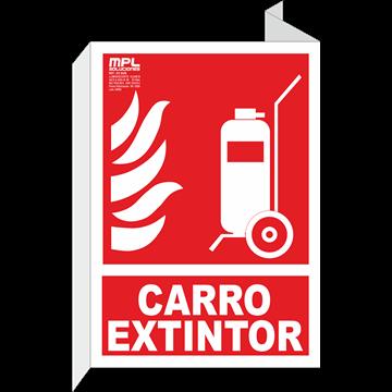 Banderola: Carro extintor