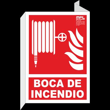 Banderola: Manguera abajo