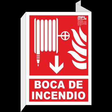 Banderola: Boca de incendios abajo