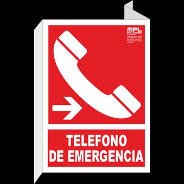 Banderola: Telefono de emergencia derecha