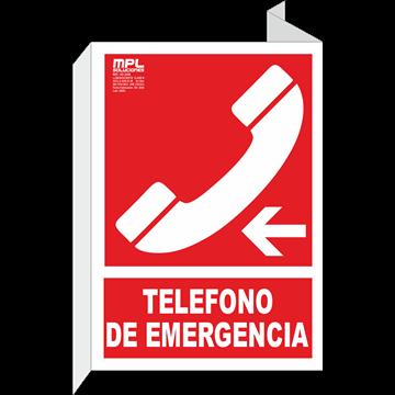 Banderola: Telefono de emergencia izquierda