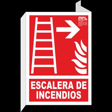 Banderola: Escalera de emergencia derecha