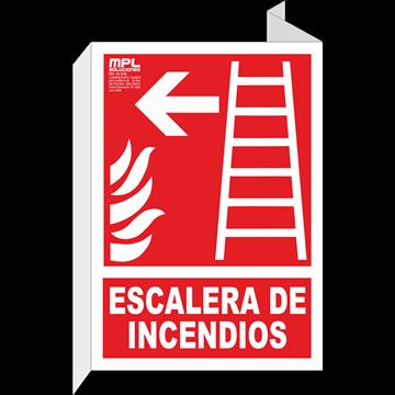 Banderola: Escalera de emergencia izquierda