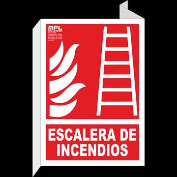 Banderola: Escalera de incendios