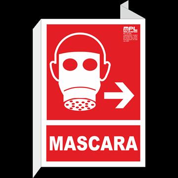 Banderola: Mascara derecha