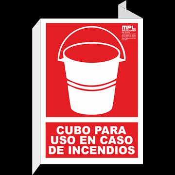 Banderola: Cubo para uso en caso de incendios