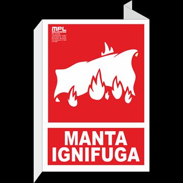 Banderola: Manta ignifuga