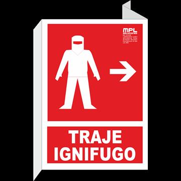 Banderola: Traje ignifugo izquierda