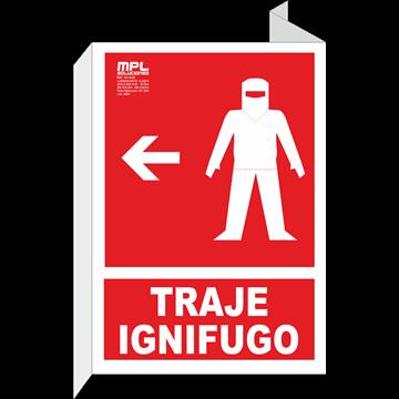 Banderola: Traje ignifugo derecha