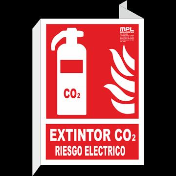 Banderola: EXTINTOR CO2 RIESGO ELECTRICO