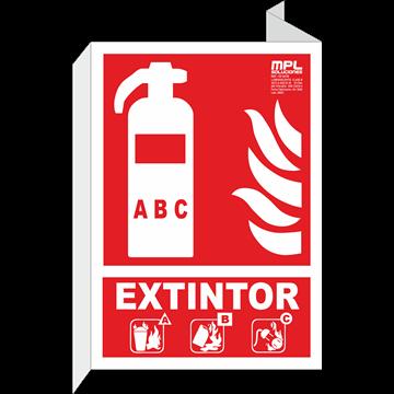 Banderola: EXTINTOR ABC