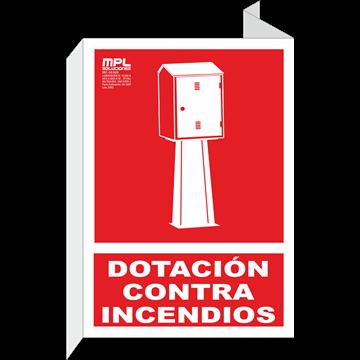 Banderola: DOTACIÓN CONTRA INCENDIOS