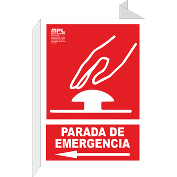 Banderola: PARADA DE EMERGENCIA IZQ.