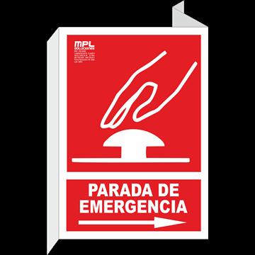 Banderola: PARADA DE EMERGENCIA DER.