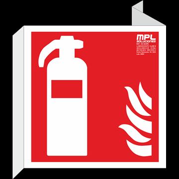 Banderola cuadrada: Extintor de incendios