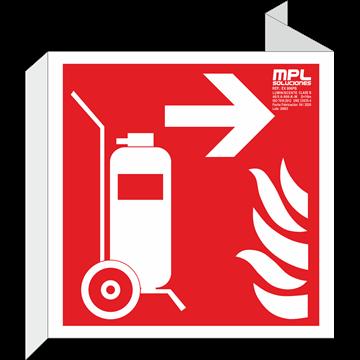 Banderola cuadrada: Carro extintor derecha