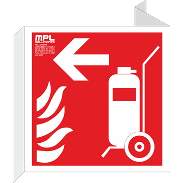 Banderola cuadrada: Carro extintor izquierda