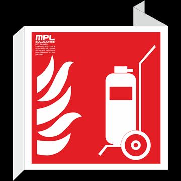 Banderola cuadrada: Carro extintor