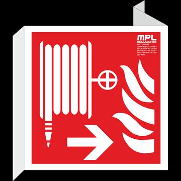 Banderola cuadrada: Manguera derecha