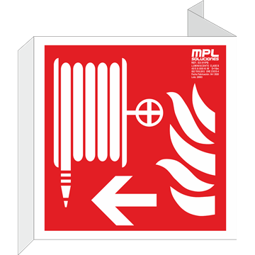 Banderola cuadrada: Manguera izquierda