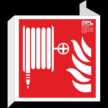 Banderola cuadrada: Manguera abajo