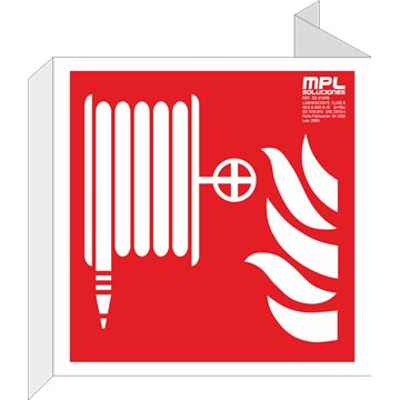 Banderola cuadrada: Manguera