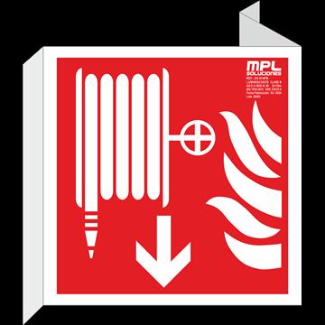 Banderola cuadrada: Boca de incendios abajo
