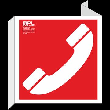 Banderola cuadrada: Telefono de emergencia