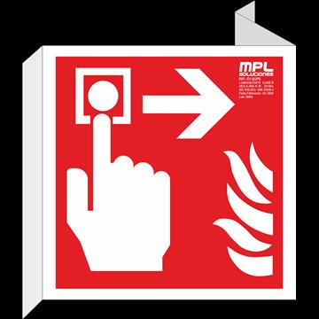 Banderola cuadrada: Timbre de alarma derecha