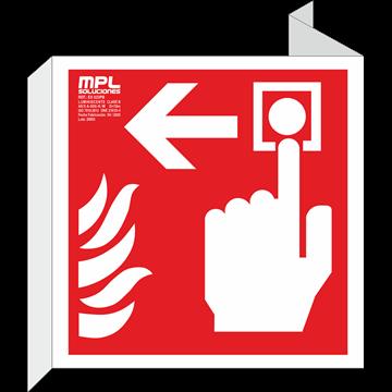 Banderola cuadrada: Timbre de alarma izquierda