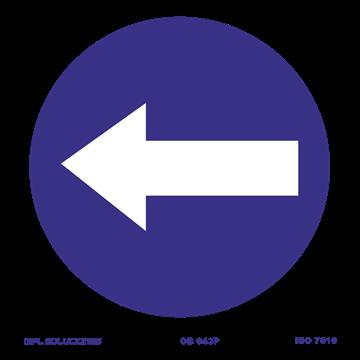 Señal: Direccion obligatoria