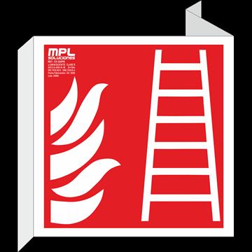 Banderola cuadrada: Escalera de incendios