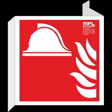 Banderola cuadrada: Equipo y conjunto de lucha contra incendios