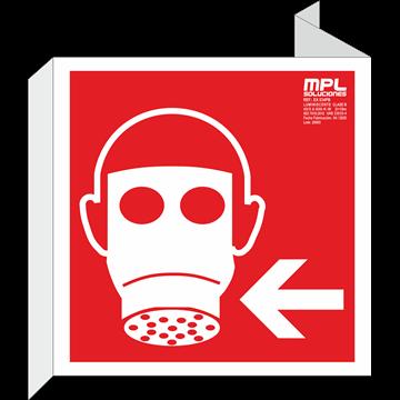 Banderola cuadrada: Mascara izquierda