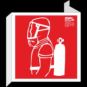 Banderola cuadrada: Equipo autonomo contra incendios