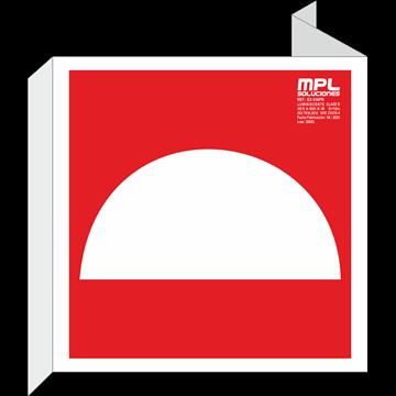 Banderola cuadrada: Campana
